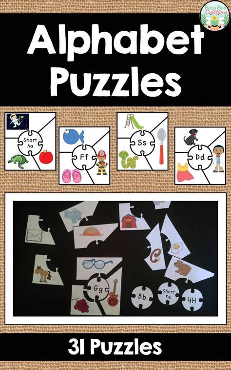 alphabet puzzles phonics center  images alphabet