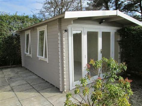 pin  meg anderson  studio exterior   cuprinol garden shades garden log cabins