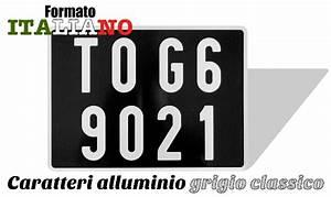 Acheter Plaque Immatriculation : plaque d 39 immatriculation noire italienne format arri re 27 5x7 5 alu gris classique ~ Gottalentnigeria.com Avis de Voitures
