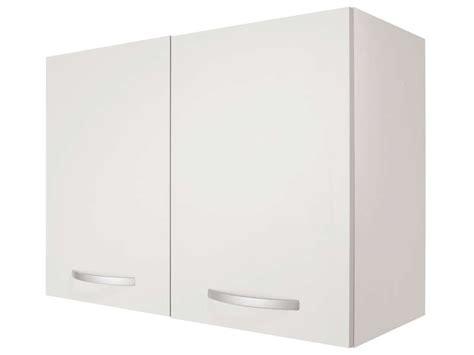 meuble haut 80 cm 2 portes spoon coloris blanc vente de
