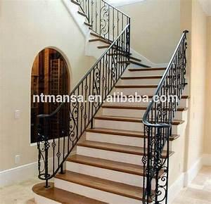 Geländer Für Treppe : modische und robuste schmiedeeisen treppe handlauf f r haus schmiedeeisernen gel nder f r den ~ Markanthonyermac.com Haus und Dekorationen