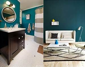 couleur de peinture 2015 le bleu petrole le vert canard With sol gris quelle couleur pour les murs 12 salon bleu petrole bleu canard et bleu paon