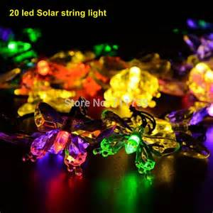1set 20 led solar christmas lights solar light string butterfly solar fairy string lights for
