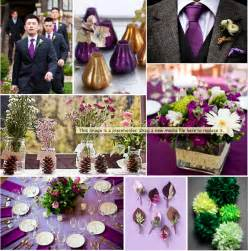 plum wedding colors plum gold and green wedding inspiration board