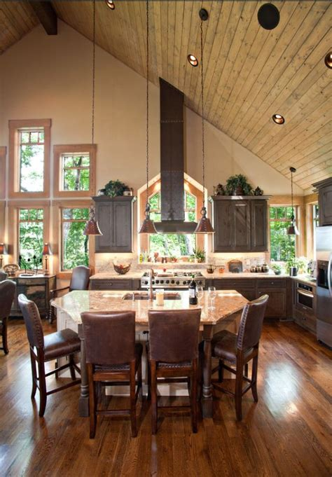 vaulted ceiling open floor plan for the home