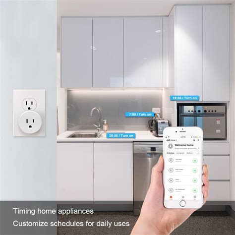 smart surge protector plug appliance frankever voice control wireless power