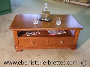 Table De Salon Bois : table basse en bois massif sur mesure pour un client de tarnos proche de bayonne ebenisterie ~ Teatrodelosmanantiales.com Idées de Décoration
