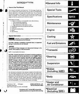 Honda Integra 1998 - 2001 Service Manual