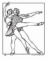 Coloring Pages Ballet Couple Fantasy Adult Dance Jr Couples Dancing Desen Visit sketch template