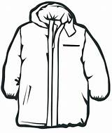 Winter Coloring Clothes Pages Coat Jacket Clipart Line Draw Print Clip Clothing Snow Coats Template Cliparts Drawing Thick Clipartmag Colour sketch template