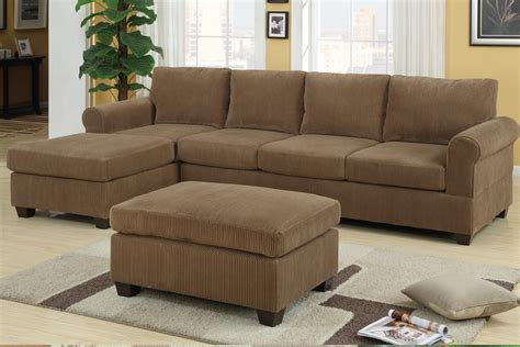 f7146 tan sectional sofa set by poundex
