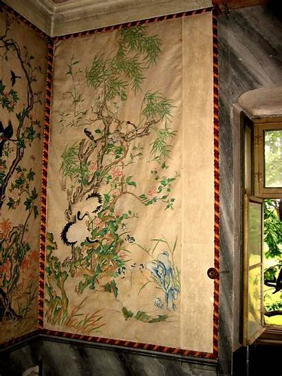 Chinese Panels Antique Wallpapers Rare 1stdibs Asian