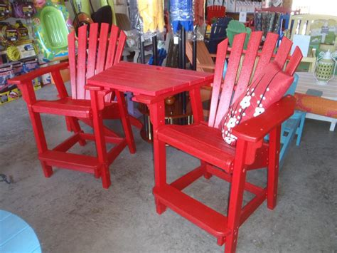 coastal adirondack counter height chairs table combo