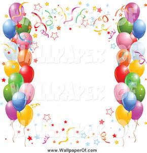 Balloons and Confetti Clip Art Borders