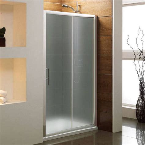 bathroom photo frosted modern glass shower sliding door