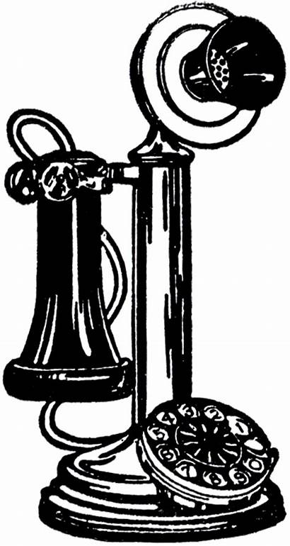 Telephone Fashioned Clipart Phone Clip Graphics Phones