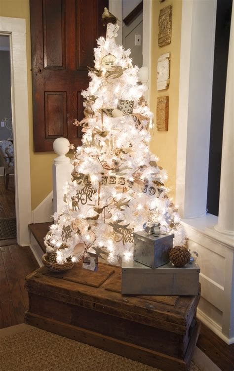 glowing white christmas tree pictures   images