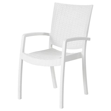 Innamo Chair With Armrests, Outdoor White Ikea