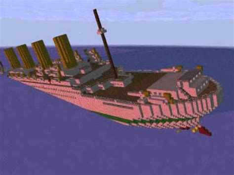 minecraft animation sinking of the britannic