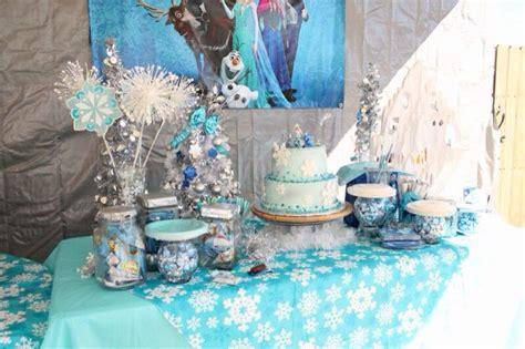 disney frozen table disney frozen party cake candy table frozen birthday