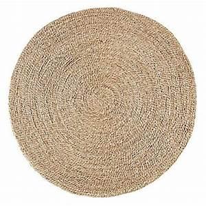 Tapis Rond Osier : rush text tapis rond en jonc de mer d120cm osier jonc bambou rotin coco fibres ~ Teatrodelosmanantiales.com Idées de Décoration