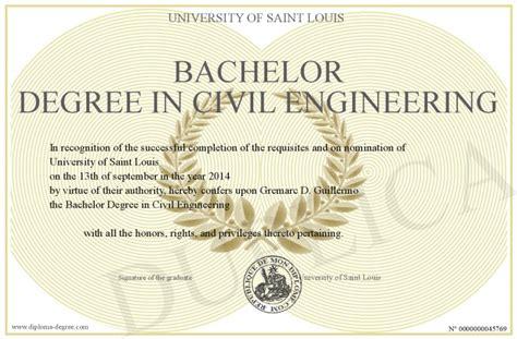 bachelor degree  civil engineering