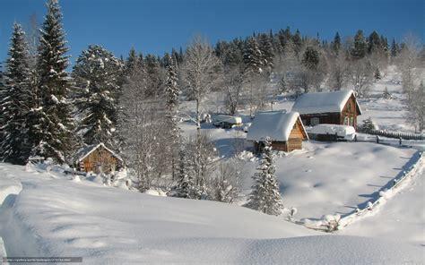 foto de Tlcharger Fond d'ecran hiver neige maison Nature Fonds