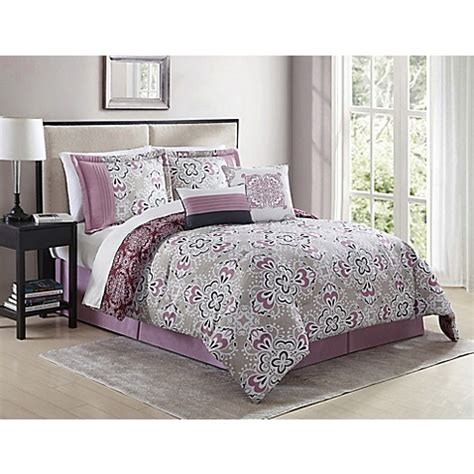 mauve shabby chic bedding shabby 6 piece comforter set in mauve bed bath beyond