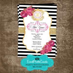 purple and silver wedding invitations coco chanel inspired quinceanera invites fashion couture