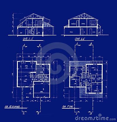 blue prints house house blueprints royalty free stock photography image