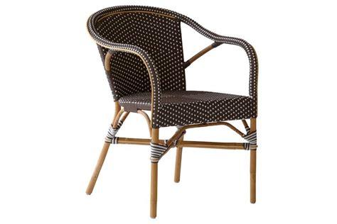 chaise haute en rotin fauteuil de jardin en rotin naturel et résine tressée