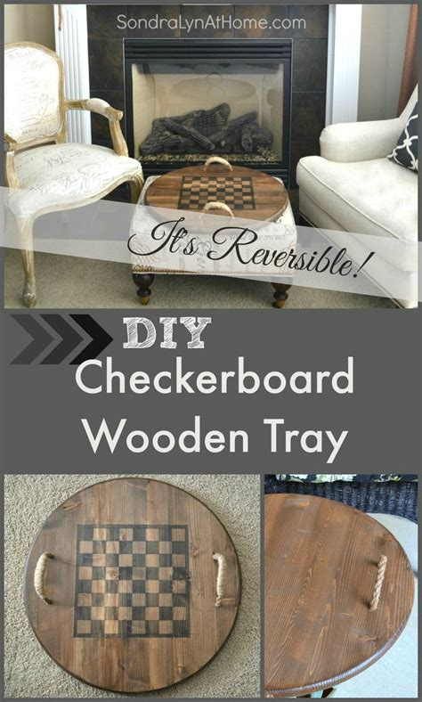 hometalk diy reversible checkerboard wooden tray