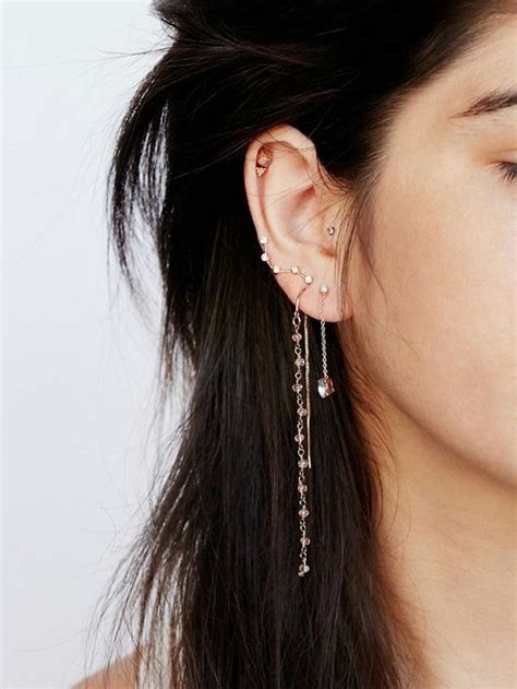 piercing oreille femme 1001 looks et conseils pour le piercing oreille r 233 ussit
