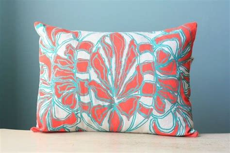 coral lumbar pillow turquoise coral lumbar pillow cover pattern