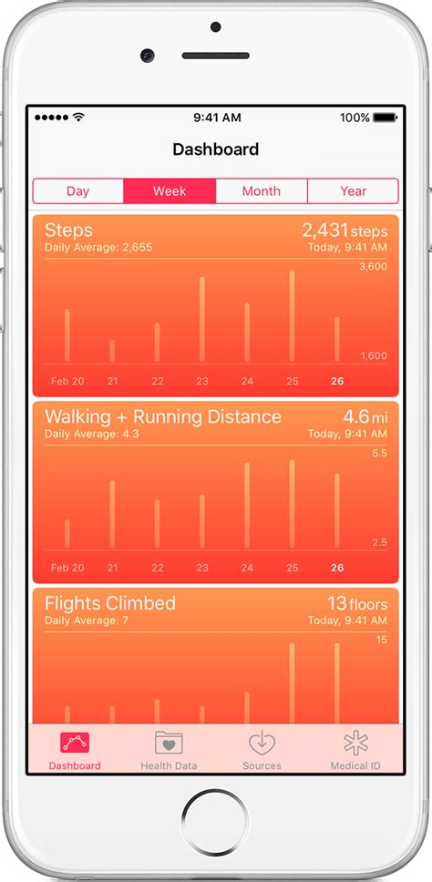 iphone health app use the health app on your iphone or ipod touch apple