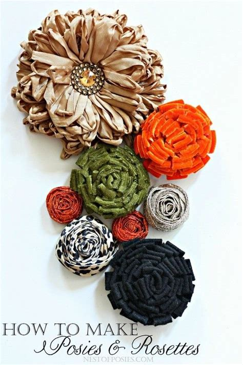 how to make posies how to make diy posies and rosettes using velvet felt and ribbon diy crafts pinterest