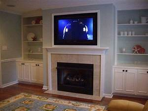 2014 Trend TV Over Wood Burning Fireplace Design Images