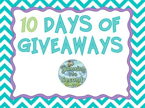 10 Days Of Giveaways Day 4  Swimming Into Second