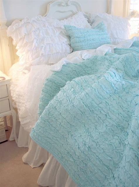 shabby chic bedding aqua turquoise shabby chic quilt with comforter commissionme