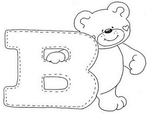 patrones de letras de fieltro imagui decoupage letras con ositos letras de fieltro y