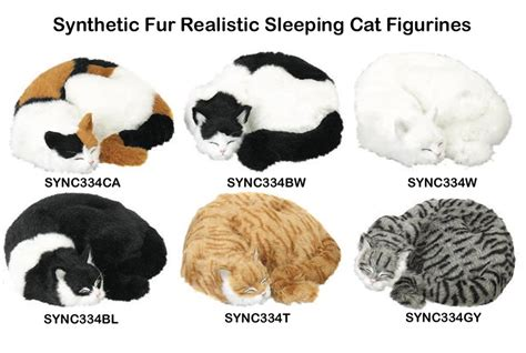 can cats see color or black and white realistic synthetic fur cat figurines