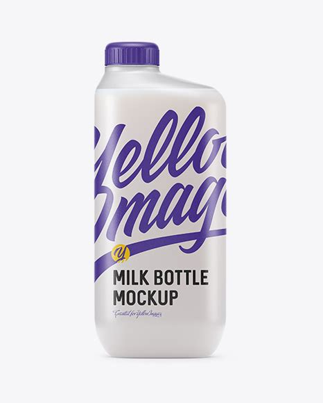 Thanks for watching this video. Frosted Plastic Milk Bottle Mockup - Frosted Plastic Milk ...