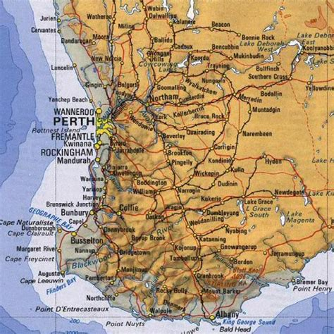 perth australia region  city map perth australia