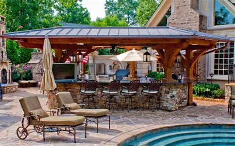 outdoor pool and bar designs bring out the with