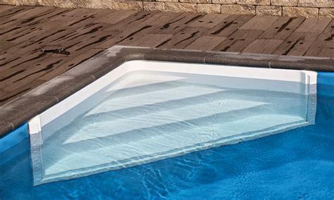 pool treppe nachrüsten neue ecktreppe pool magazin