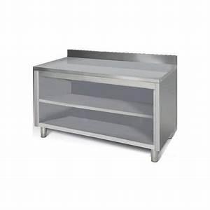 Meuble Plan De Travail : meuble placard ouvert plan de travail inox mural tag re mm1460sa ~ Teatrodelosmanantiales.com Idées de Décoration