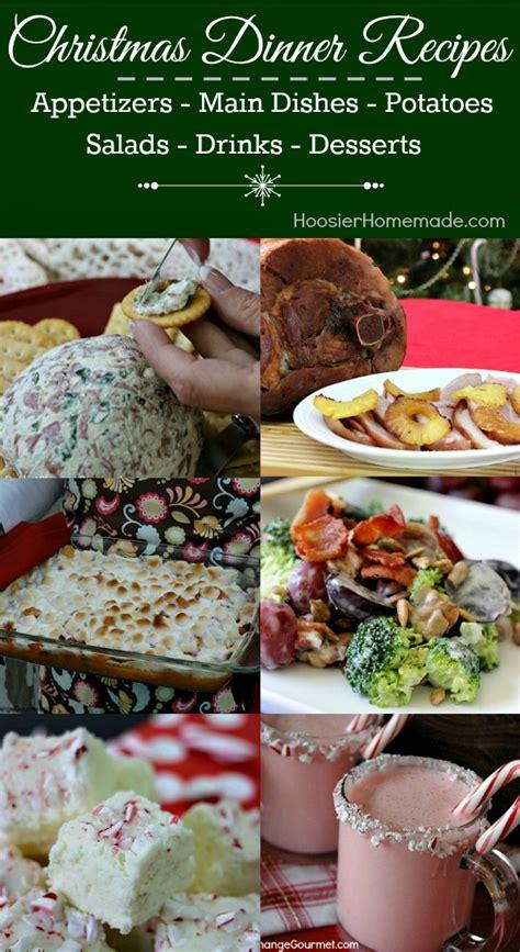 suggestions for christmas dinner christmas dinner ideas hoosier homemade