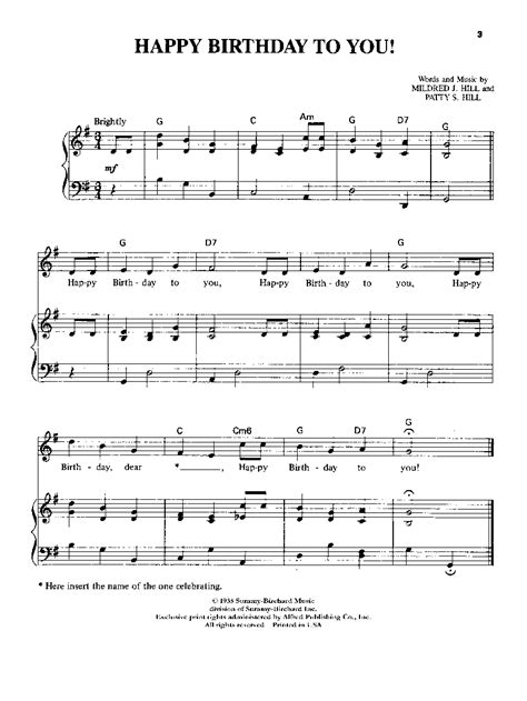 They will help you play better. Happy Birthday to You-Piano/Vocal by HI | J.W. Pepper Sheet Music