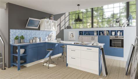 Kuche Blau by Basic Einbauk 252 Che Pura 0080 Blau Weiss K 252 Chenquelle