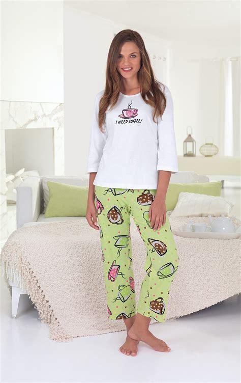 pajamagram cute pajamas  women cotton   coffee